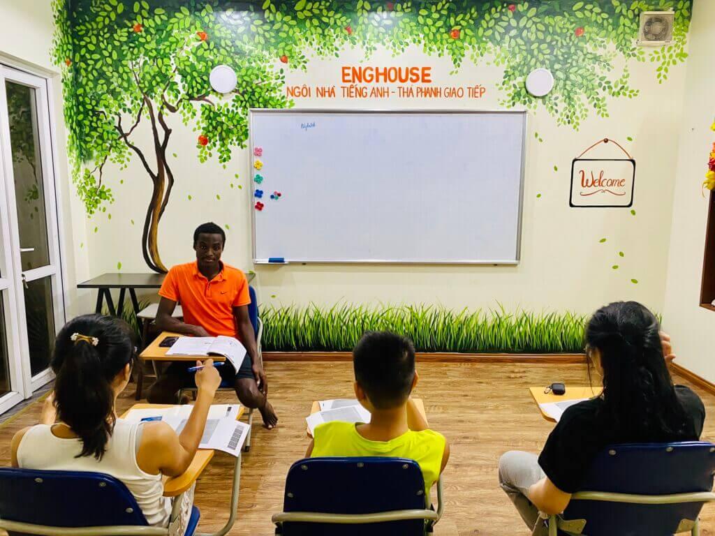 Lớp học tại Enghouse Homestay
